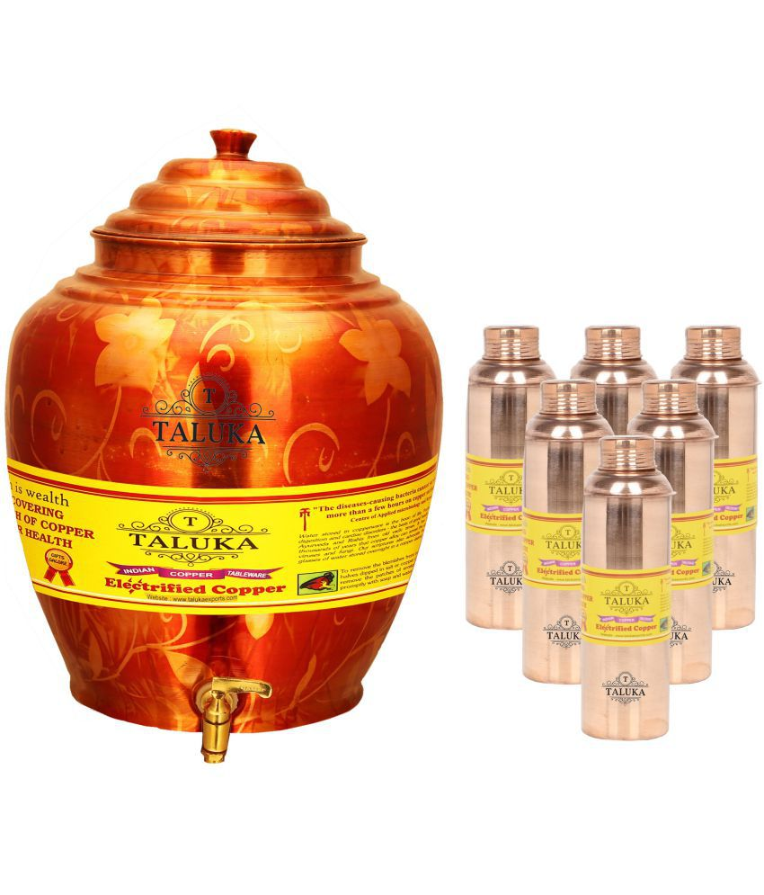 Taluka Copper Water Container Set of 7