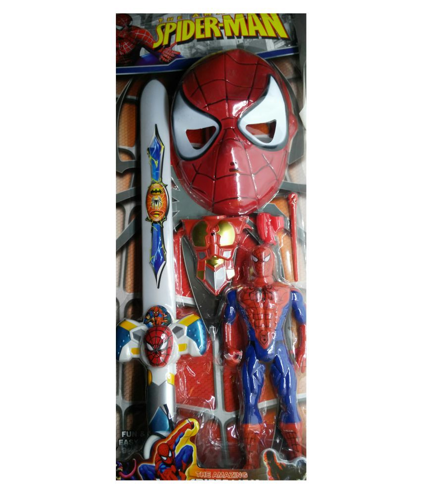 Halo Nation Spiderman Action Figure Play Set With Sword Mask And