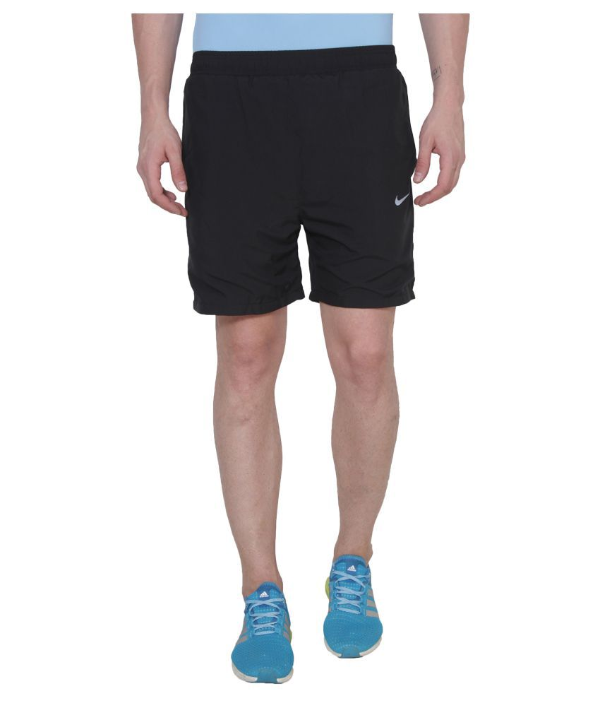 Nike Black Polyester Running Shorts