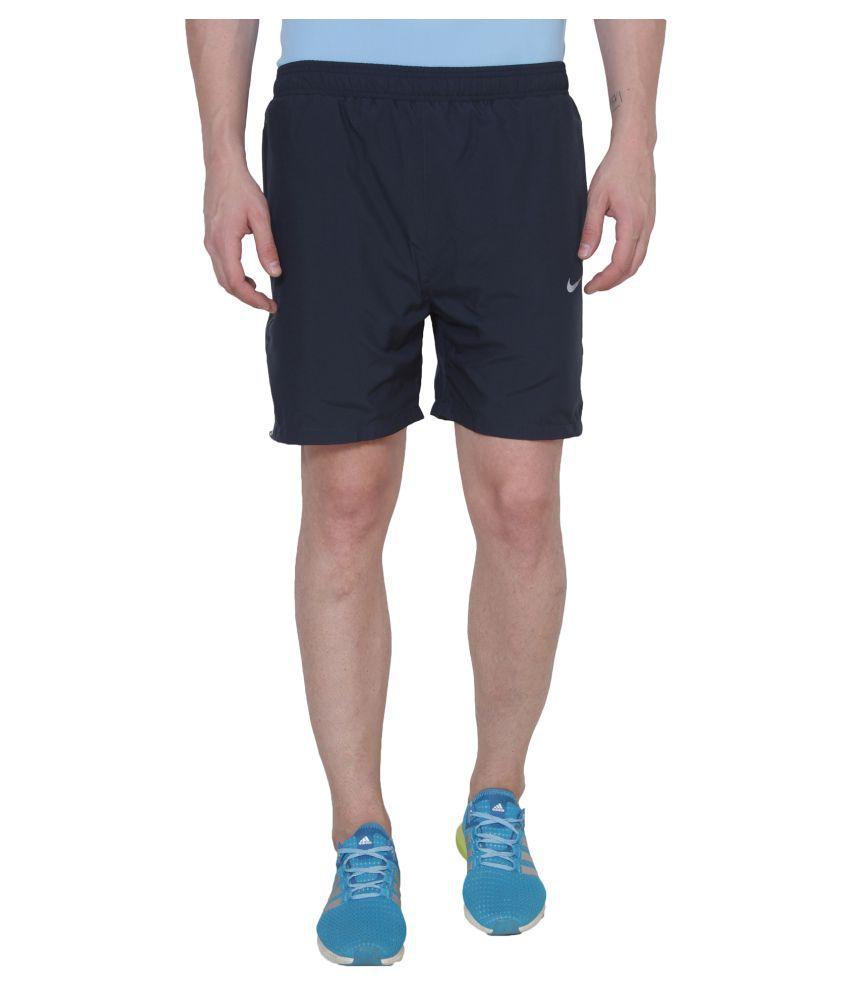 Nike Navy Polyester Running Shorts - Buy Nike Navy ...