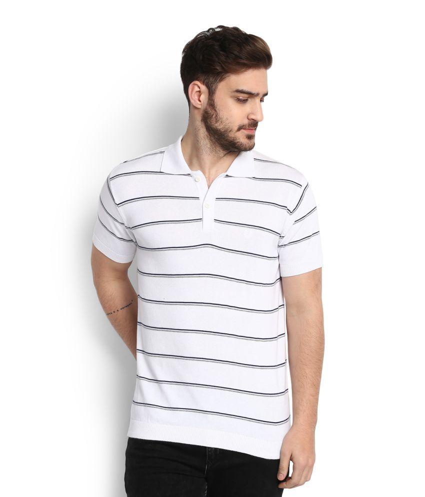 Allen Solly White Polo T-Shirt