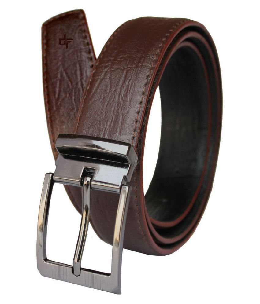 Discover Fashion Brown PU Formal Belt
