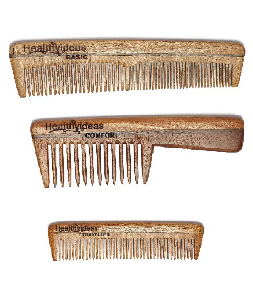 HealthyIdeas Wide tooth Comb Pack of 3