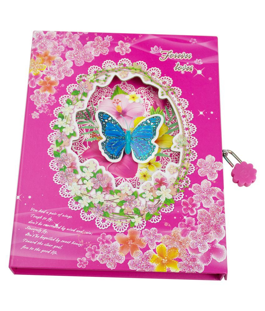 dreambag new butterfly design personal diary with lock buy online
