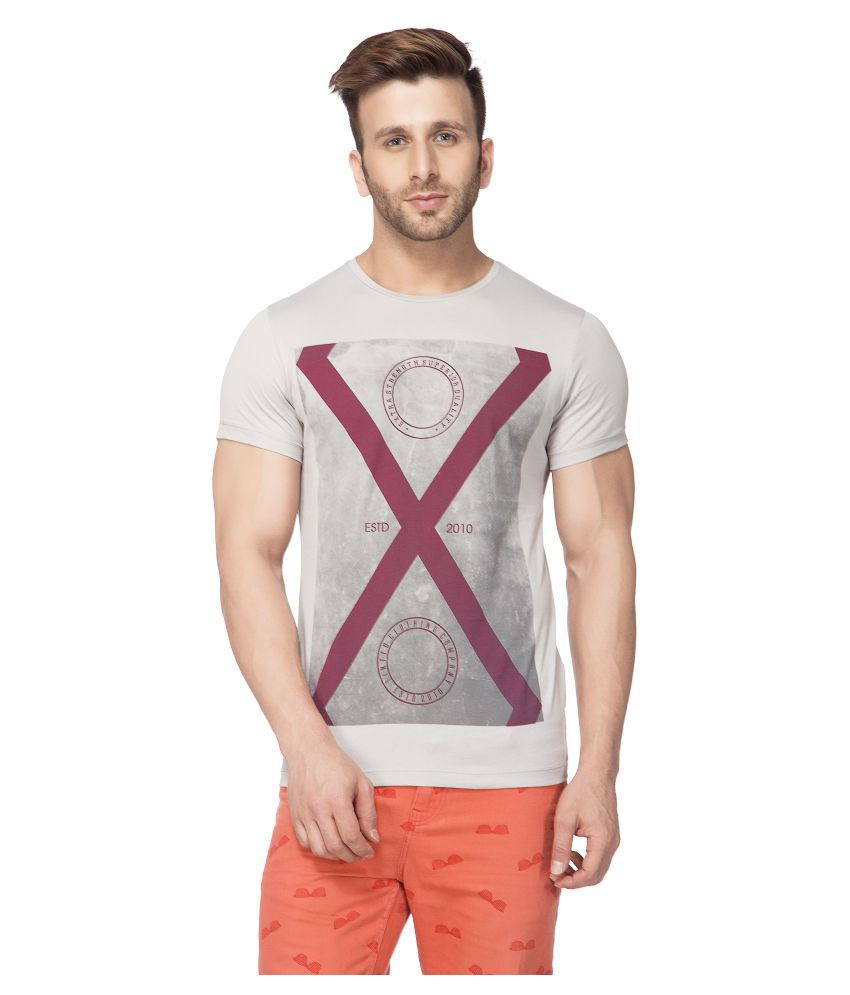 Tinted Grey Round T-Shirt