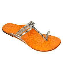 Altek Silver Flat Ethnic Footwear