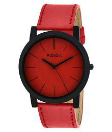 Ridiqa Broad Strap Red Analog Watch For Women - RD-049