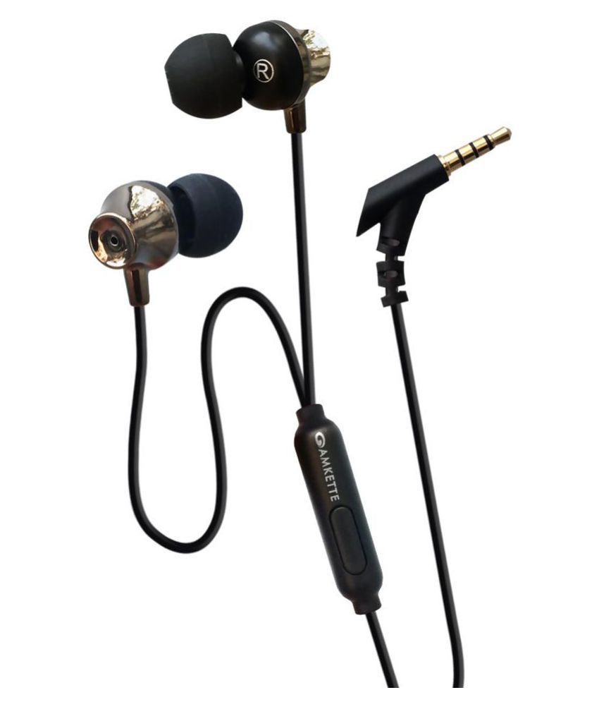 Amkette Trubeats E7 Ergo Fit In Ear Wired Earphones With Mic