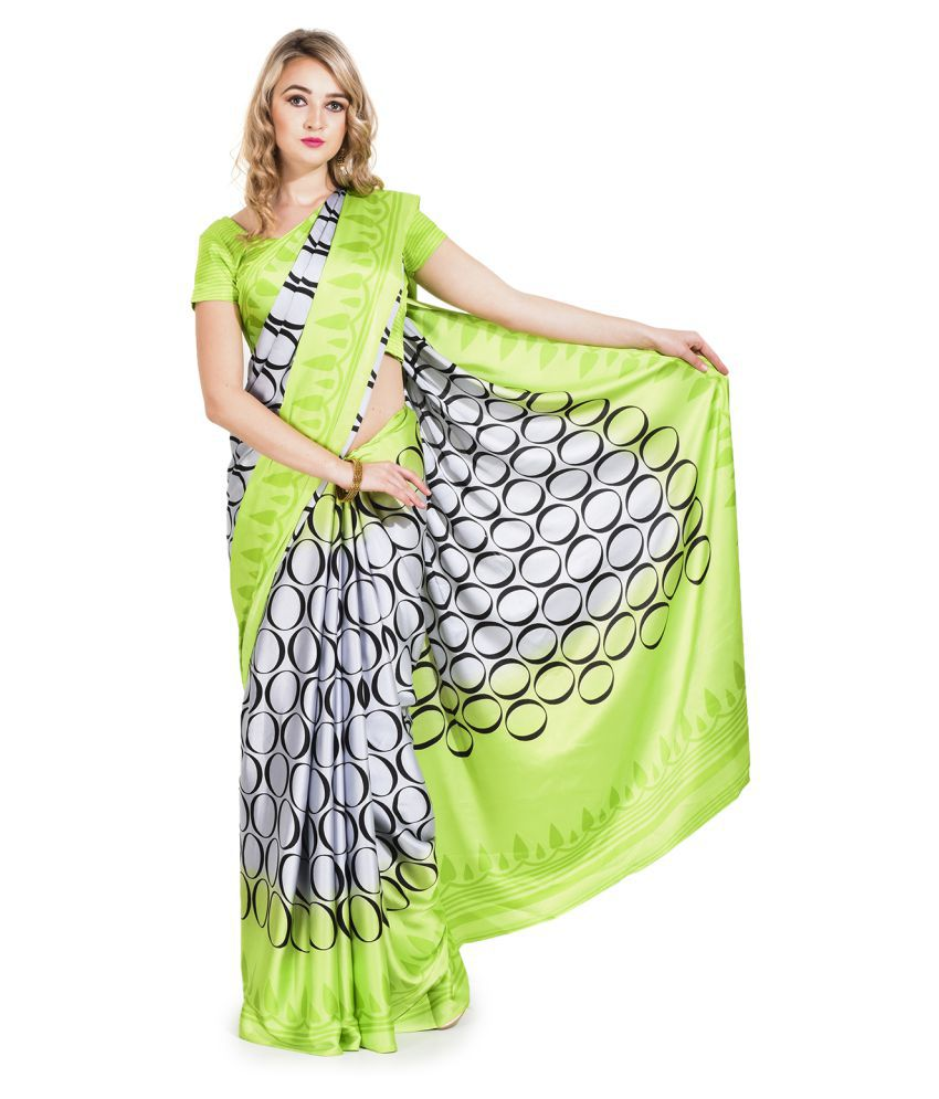 AVR Fashions Multicoloured Satin Saree