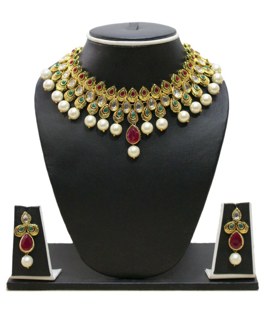 Zaveri Pearls Stylish Pearls & Kundan Necklace Set - ZPFK3123