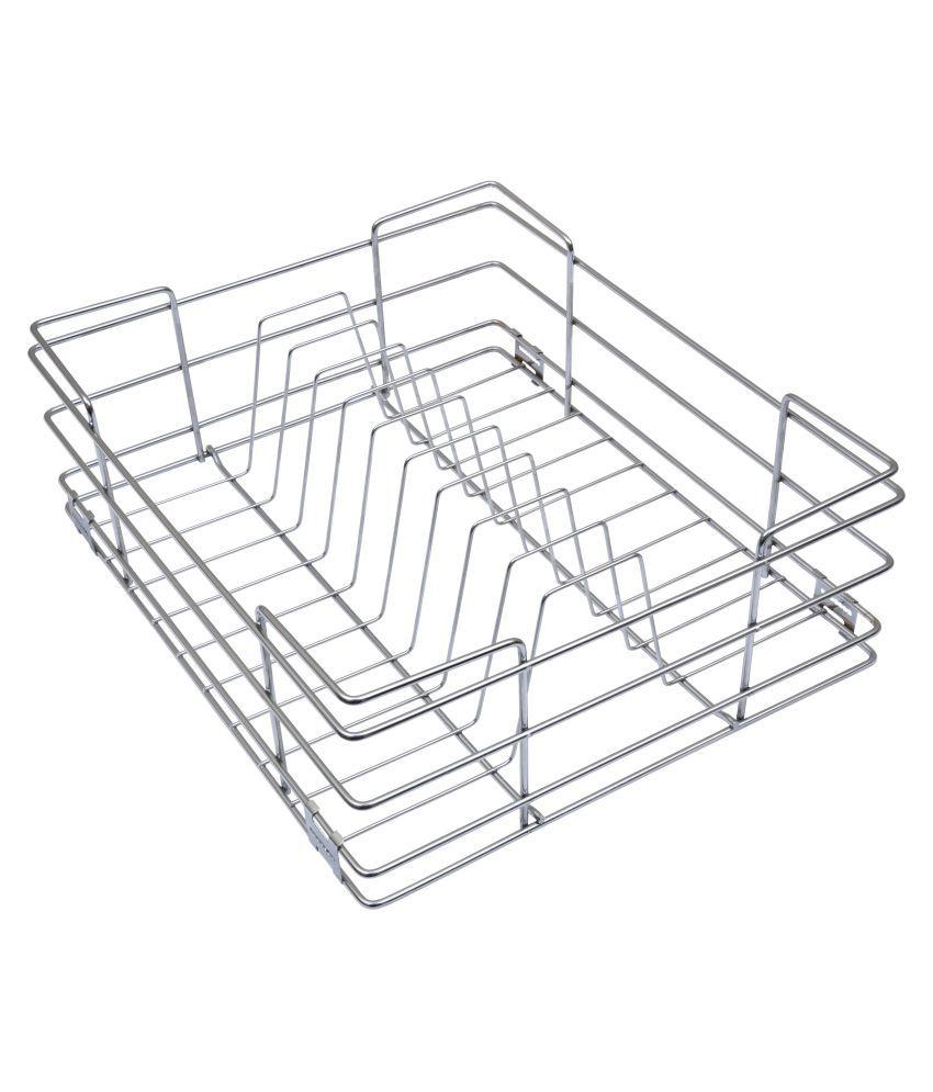 Buy Alex Plate Kitchen Basket Steel Wire Basket Online at Low Price ...