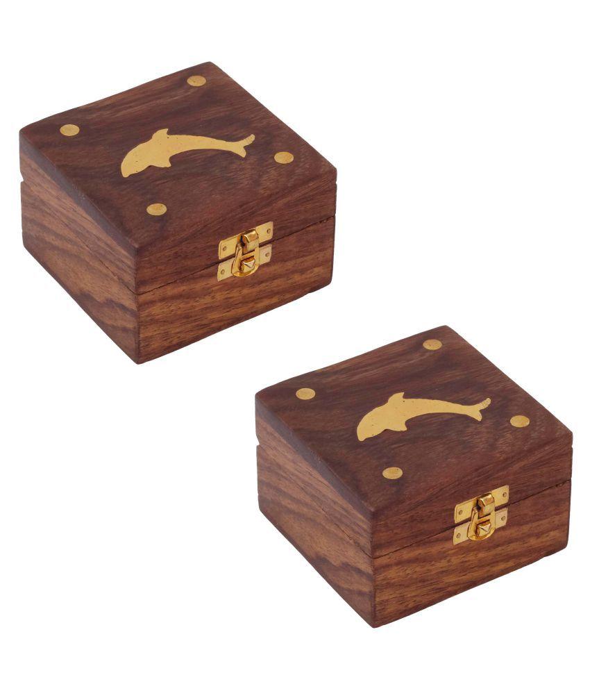 Craft Art India Wooden Jewellery Storage Box - 2 Pcs