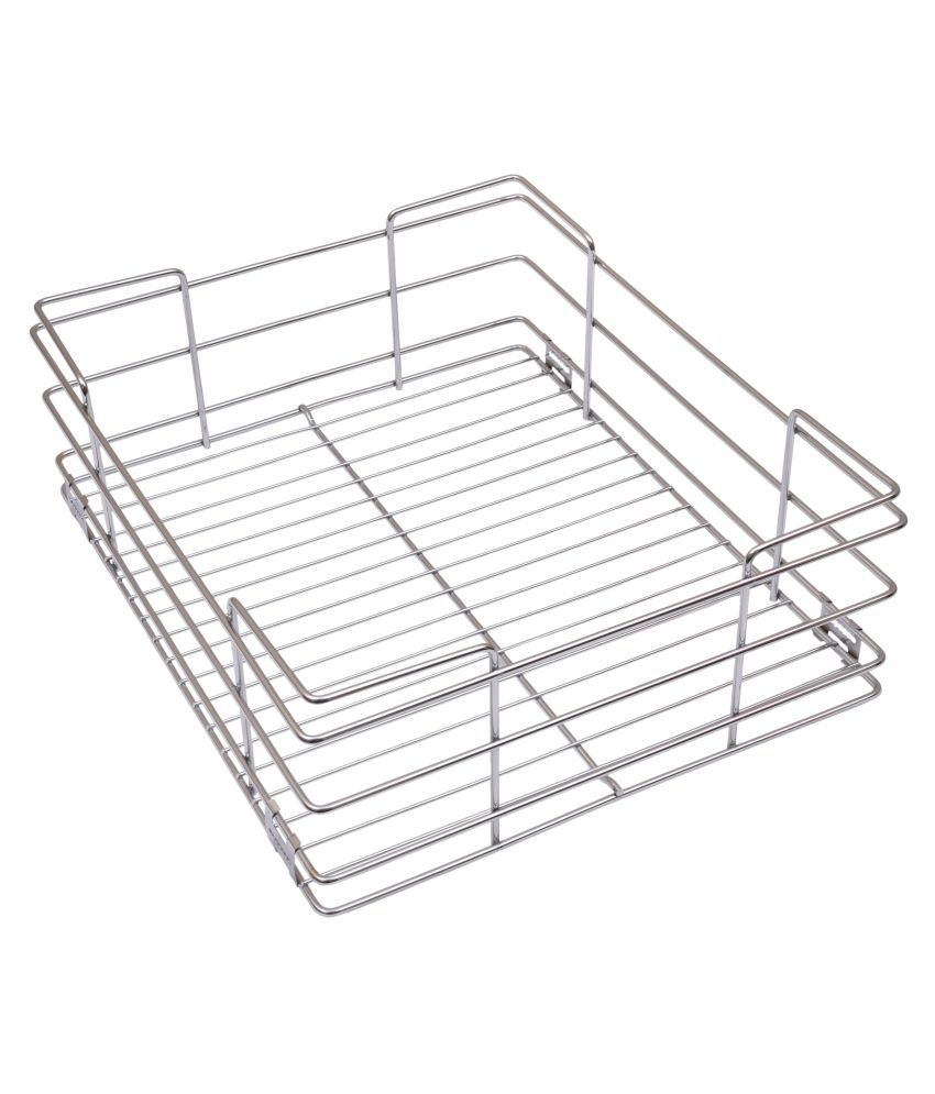 buy alex plain kitchen basket 17 x 20 x 6 inches steel wire rh snapdeal com  stainless steel basket for kitchen