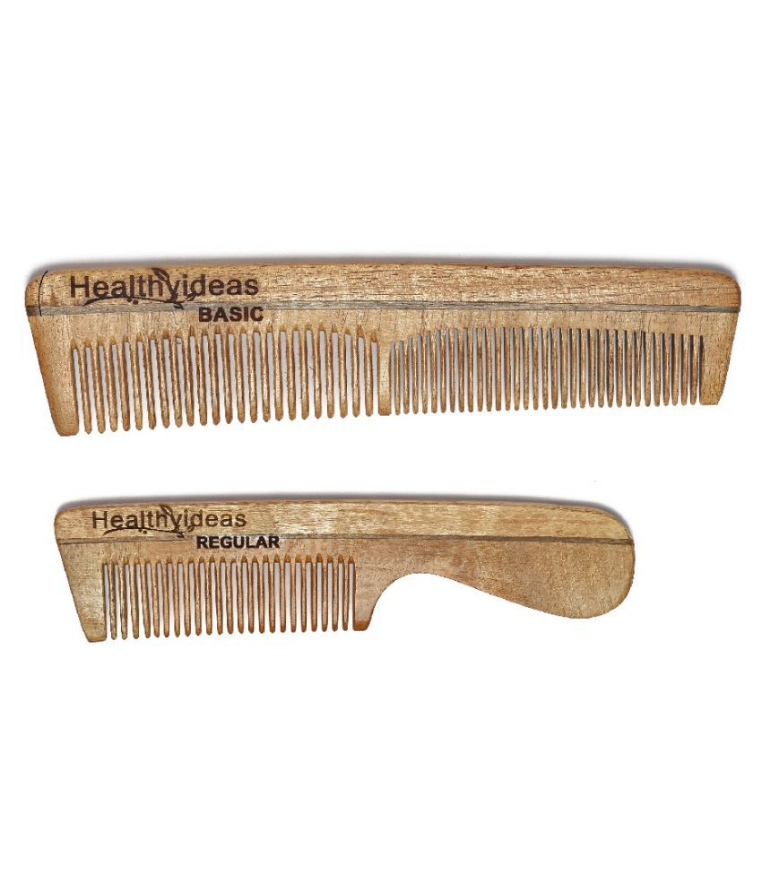 HealthyIdeas Fine Tooth Rattail Comb Pack of 2
