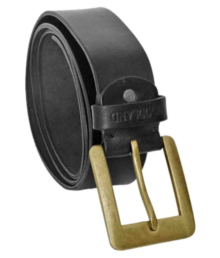 Woodland Imports Black Leather Formal Belt