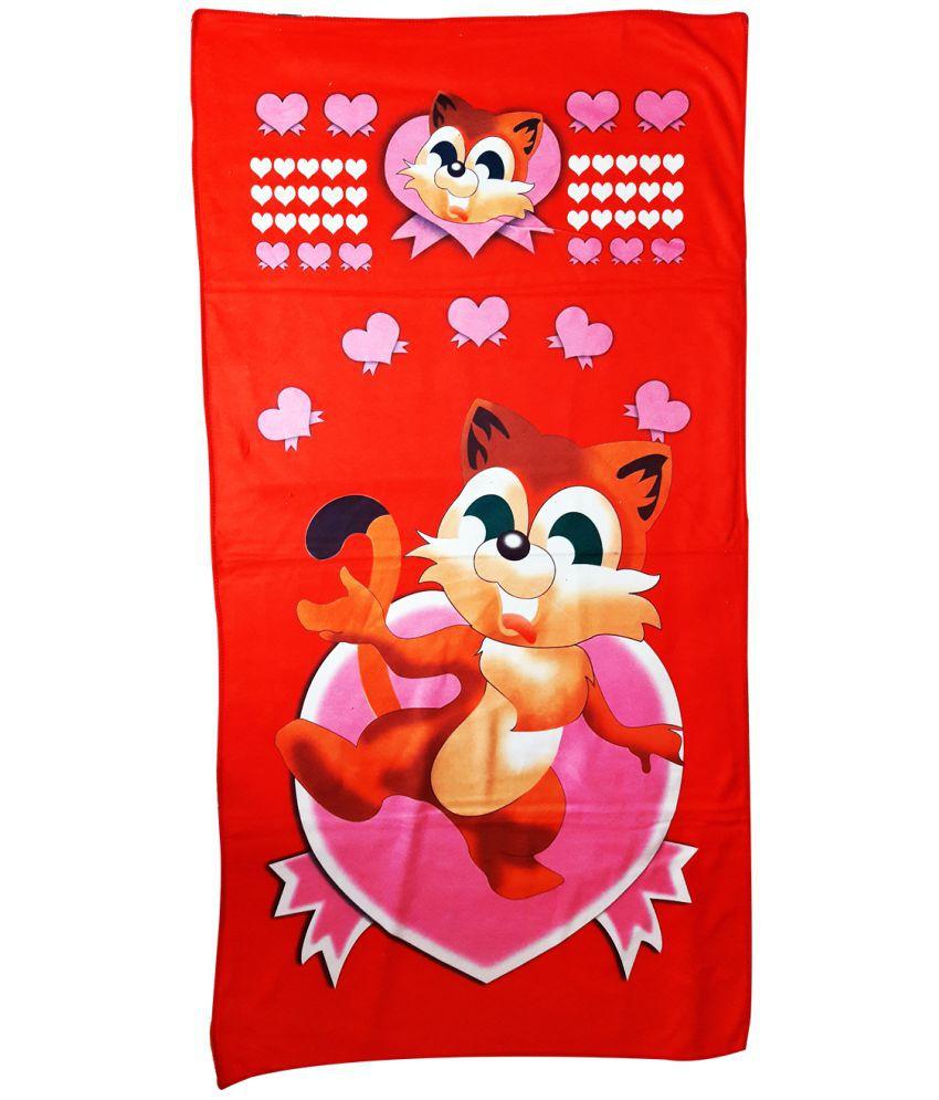 Catman Red Microfibre Bath Towels 1