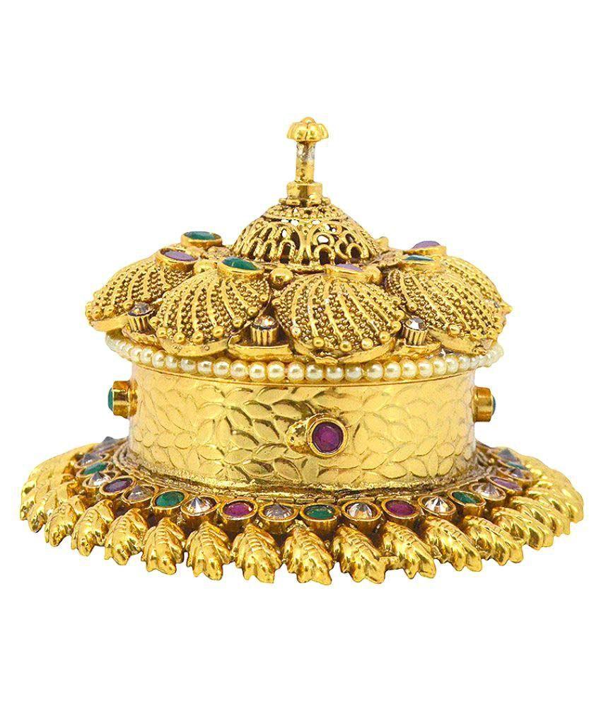 Saloni Fashion Jewellery Golden Copper Sindoor Box