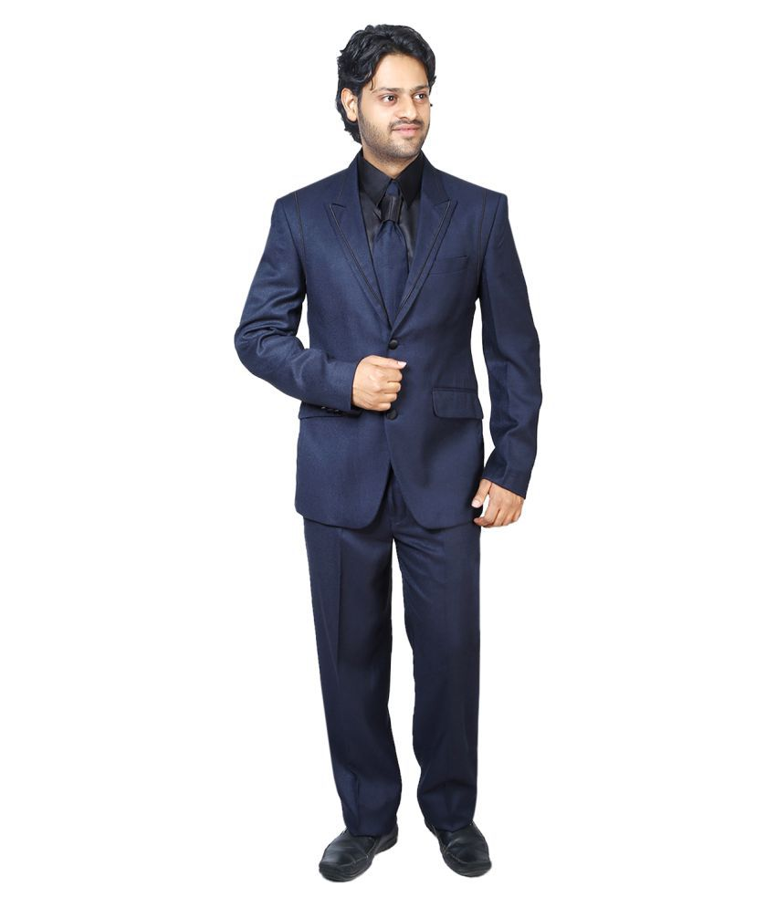 Bindals Blue Solid Party Suit