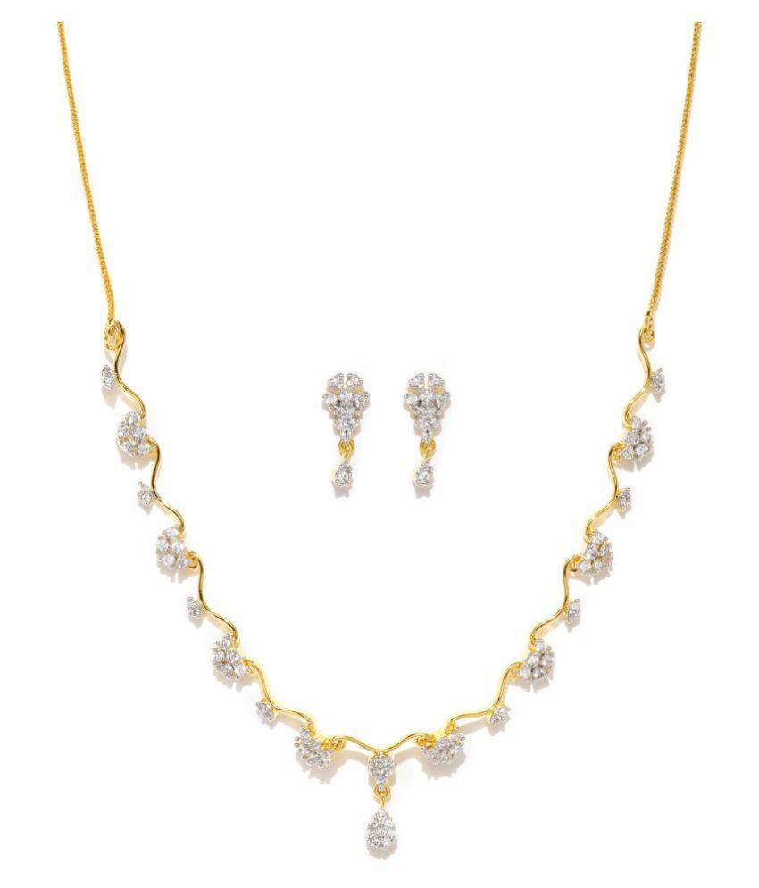 Zaveri Pearls Multicolour Necklace Set