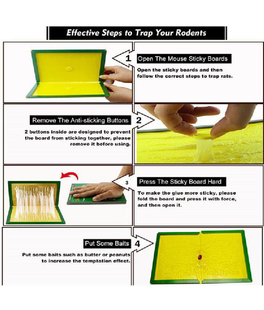 Pack Of 5 Environmental Friendly Rubber Glue Mouse/Rat Trap (Pls read