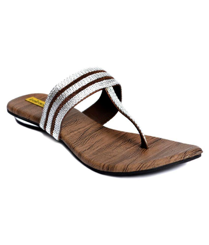 Indirang Silver Block Heels
