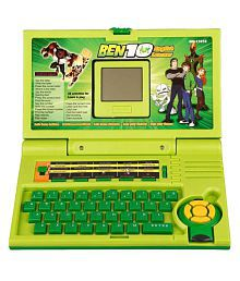 99Dotcom Green Plastic 20 Activity Educational Laptop Toy For Kids