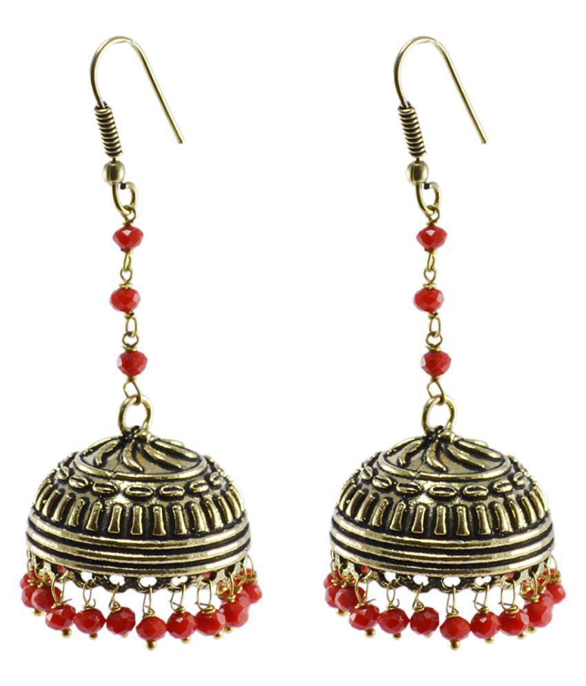 Silvesto India Multi Color Brass Jhumki