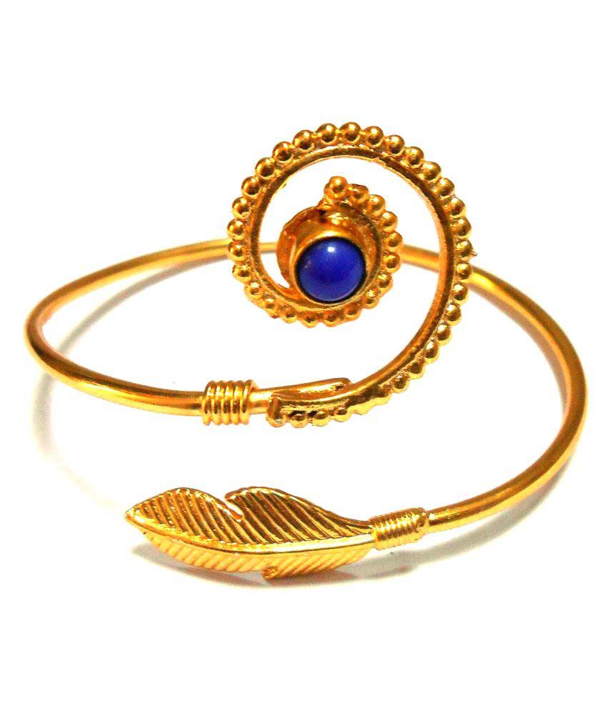 Jamnasha Handmade Gold Plated Brass Adjustable Bracelet