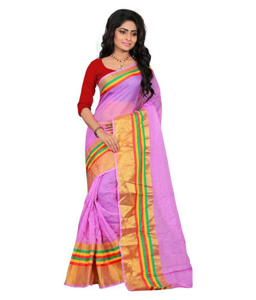 Saloni Designer Purple Silk Saree
