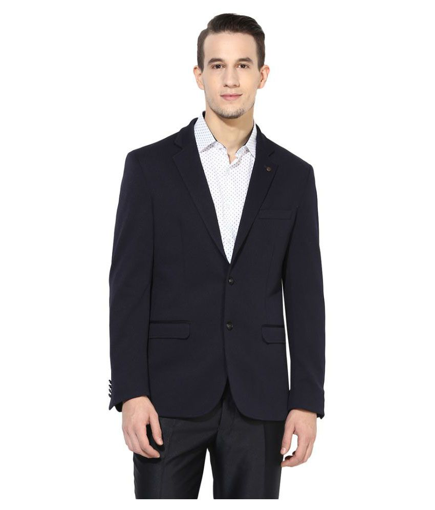 Turtle Navy Solid Formal Blazers