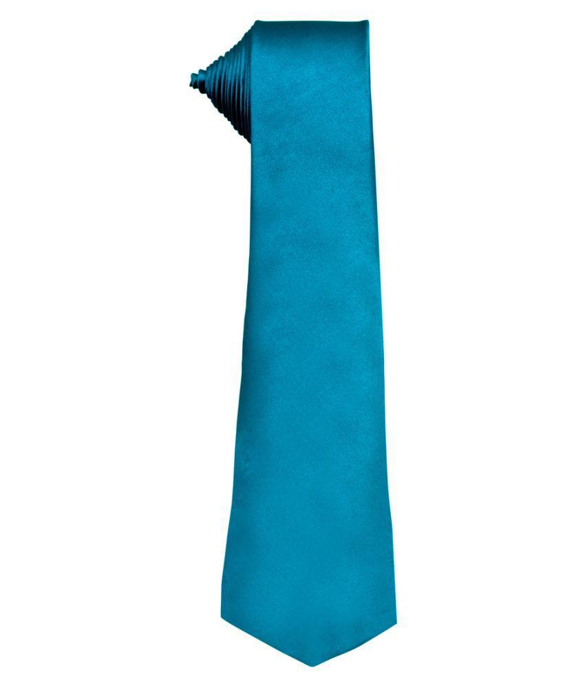 Maruti Tie Blue Plain Silk Necktie