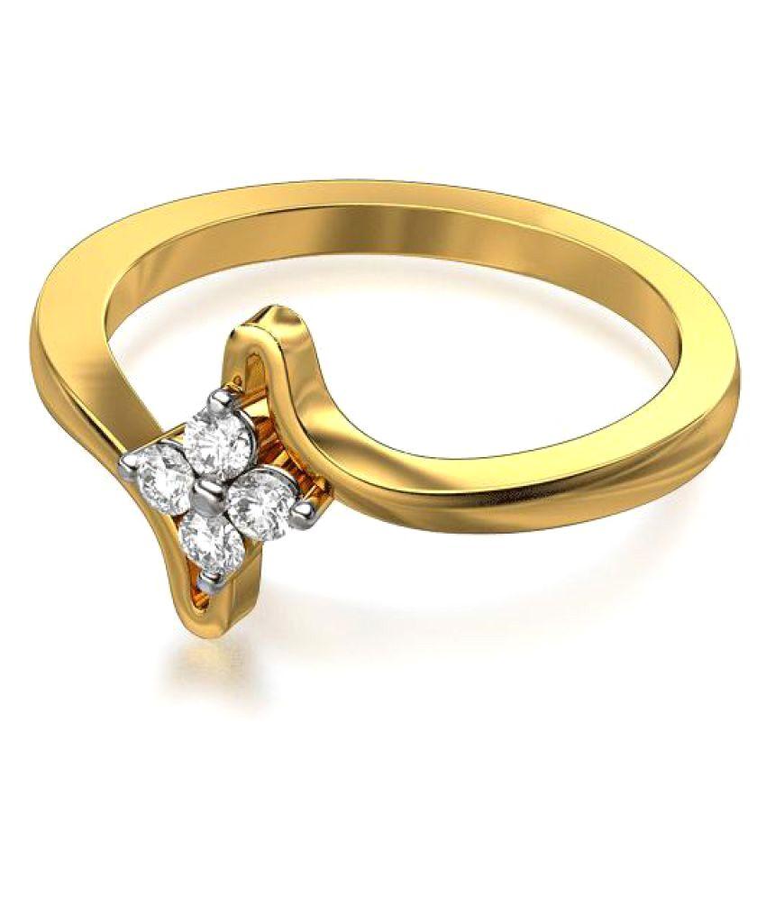 Sheetal Impex 14k Yellow Gold Diamond Ring