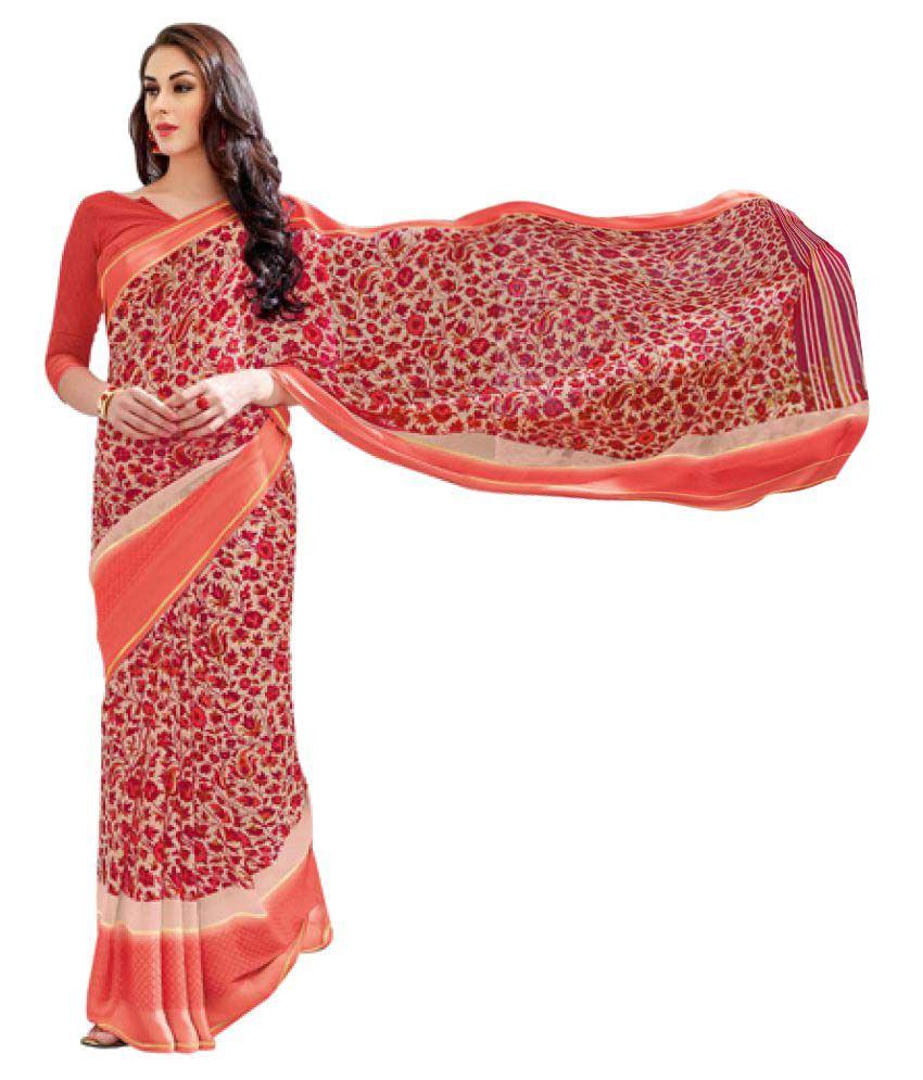 Kumaran Silks Multicoloured Georgette Saree