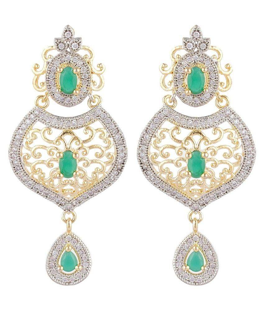 SKN™ Multicolour American Diamond Earring for Women, Girls