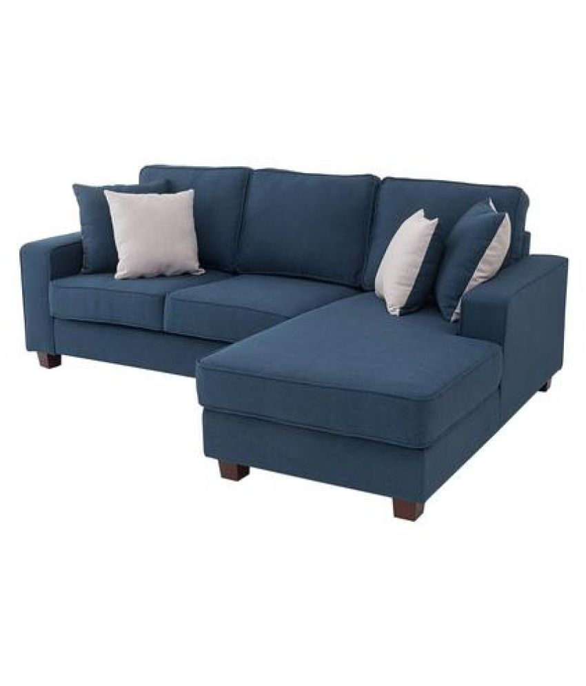 westido lhs 2 seater with lounger sofa set in navy blue buy rh snapdeal com
