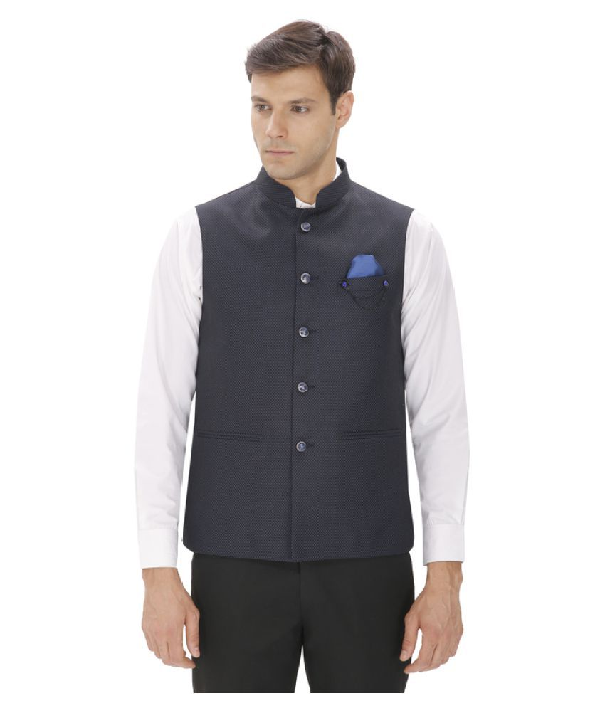 048717ee868 Amador Fashions Blue Terry Rayon Nehru Jacket - Buy Amador Fashions Blue  Terry Rayon Nehru Jacket Online at Low Price in India - Snapdeal