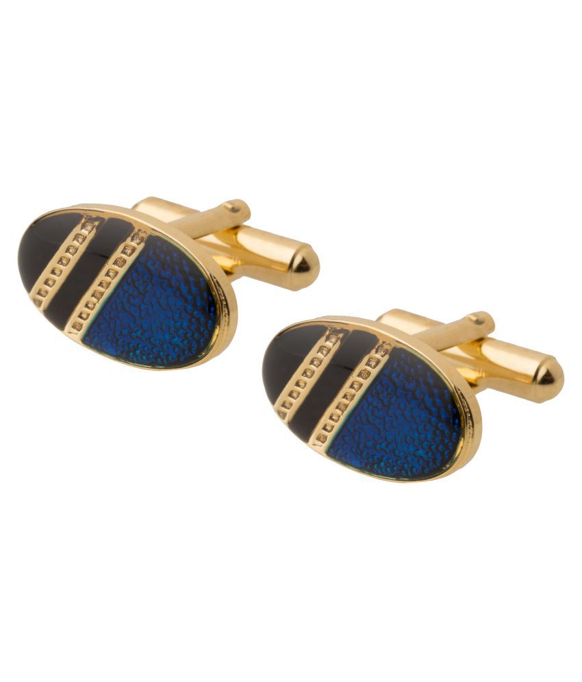 Shining Jewel 24K Gold Plated Designer Cufflinks