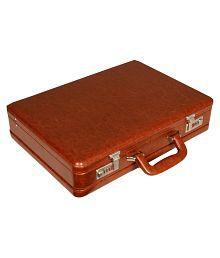 Leather World Tan Medium Briefcase