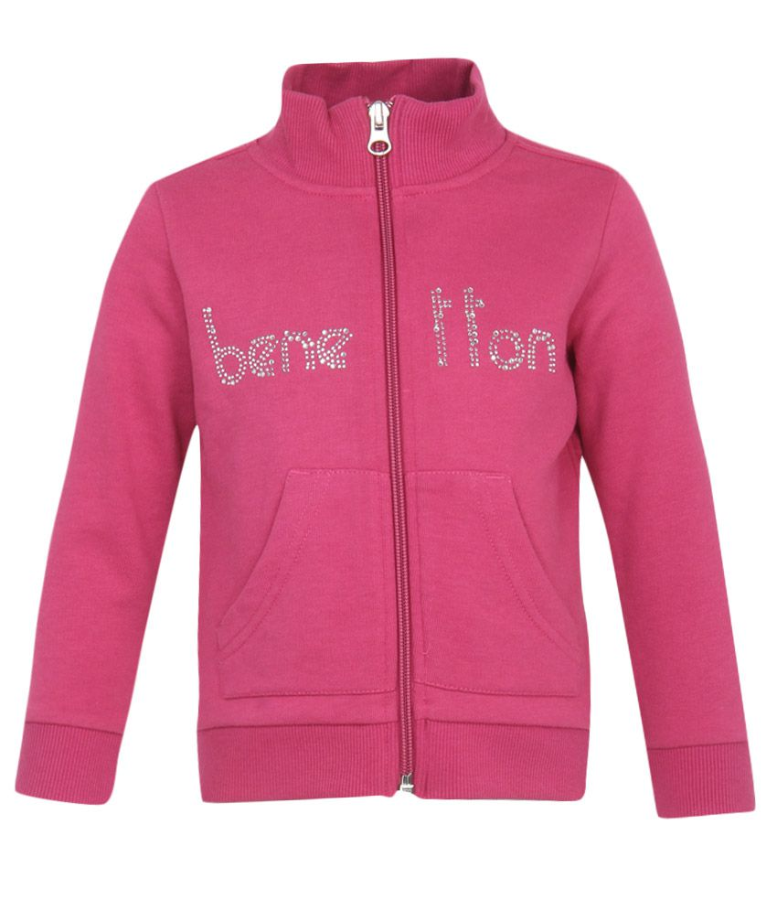 United Colors of Benetton Girls Pink Swetshirts
