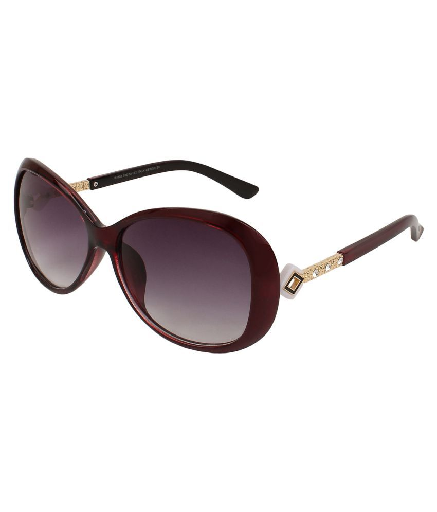 Zyaden Purple Oversized Sunglasses ( SW-389 )