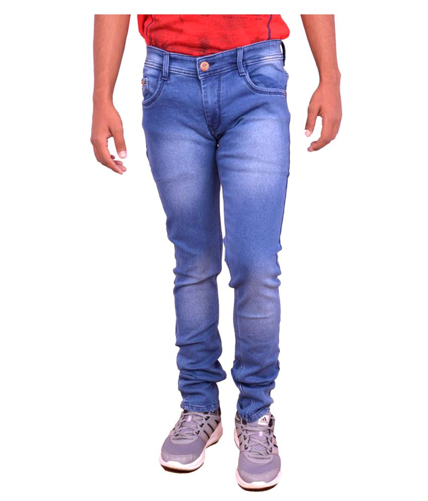 King Shine Blue Slim Jeans