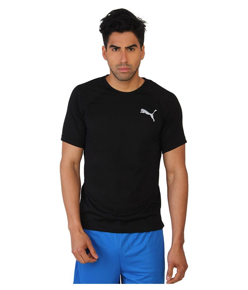 Puma Mens Black Cotton T-Shirt