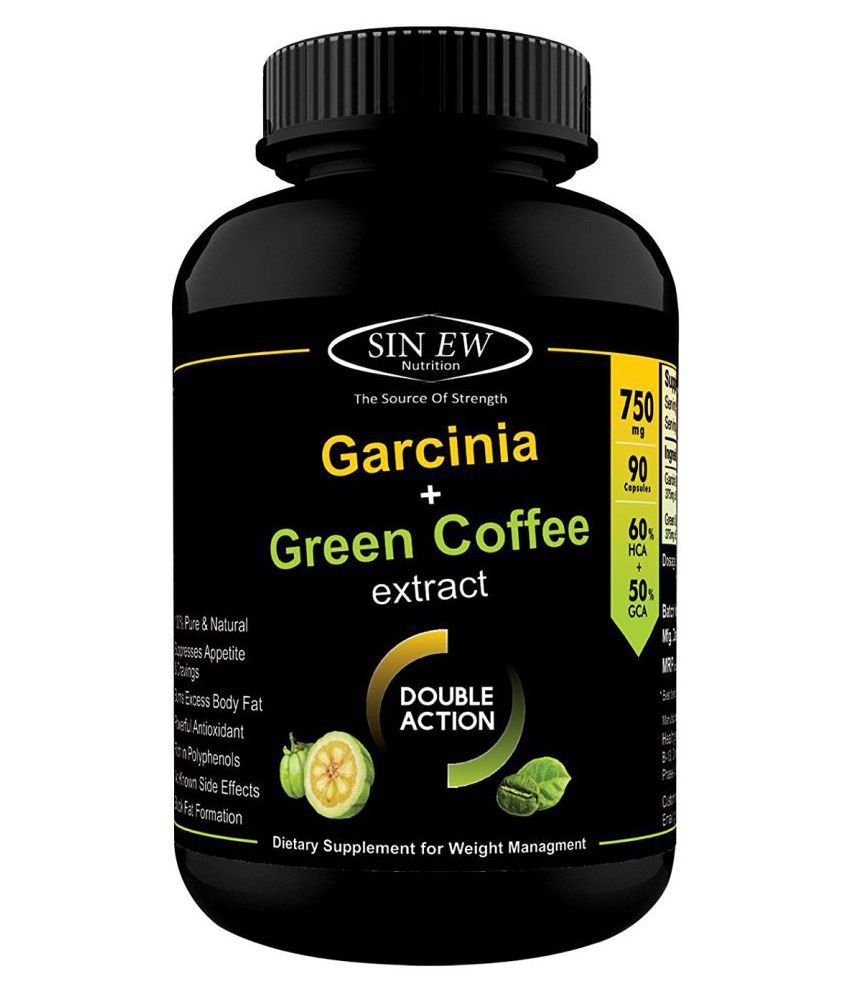 Sinew Nutrition Weight Management Combo 750mg 90 Count Garcinia Cambogia And Green Coffee Bean Extract 750 Mg Unflavoured