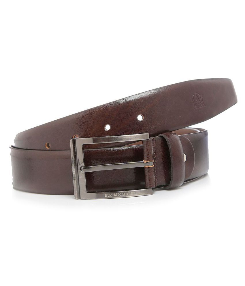 Sir Michele Brown Leather Formal Belts
