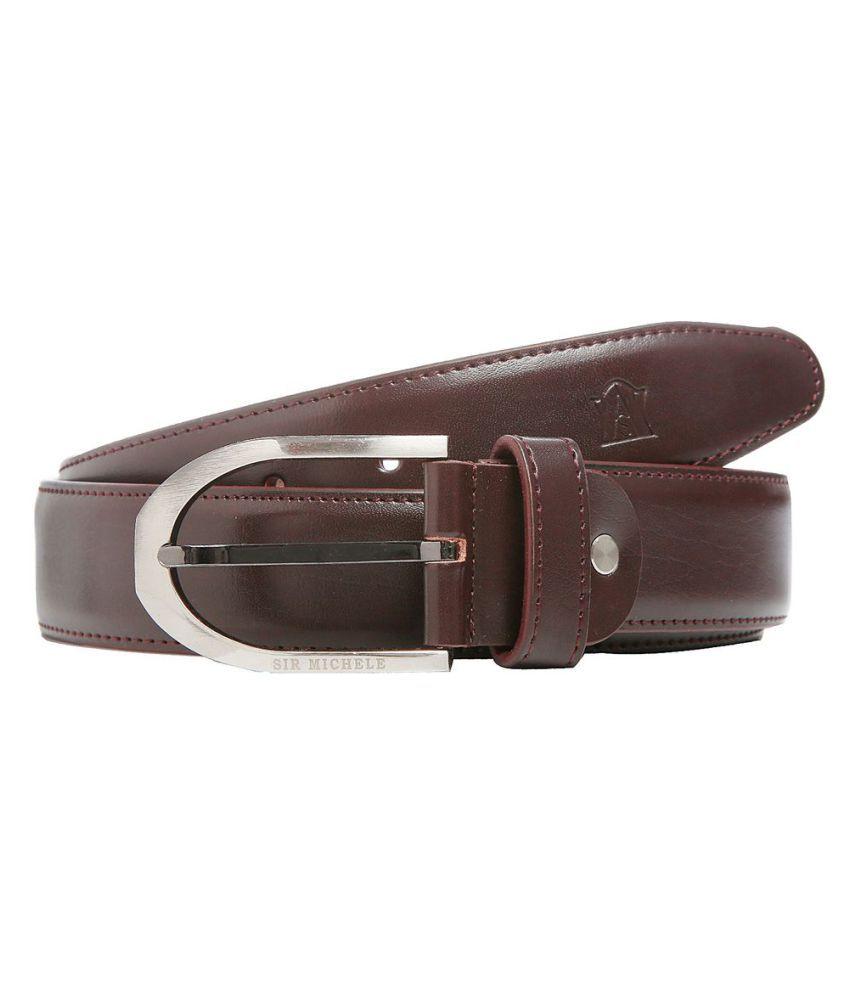 Sir Michele Brown PU Formal Belts