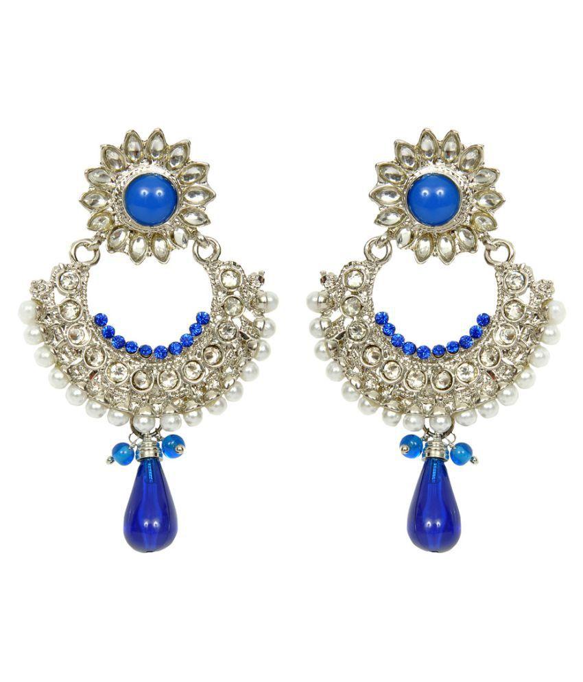 Sweety Traditional Stylish Pearl Fancy Party Wear Drop Earrings for Girls and Women