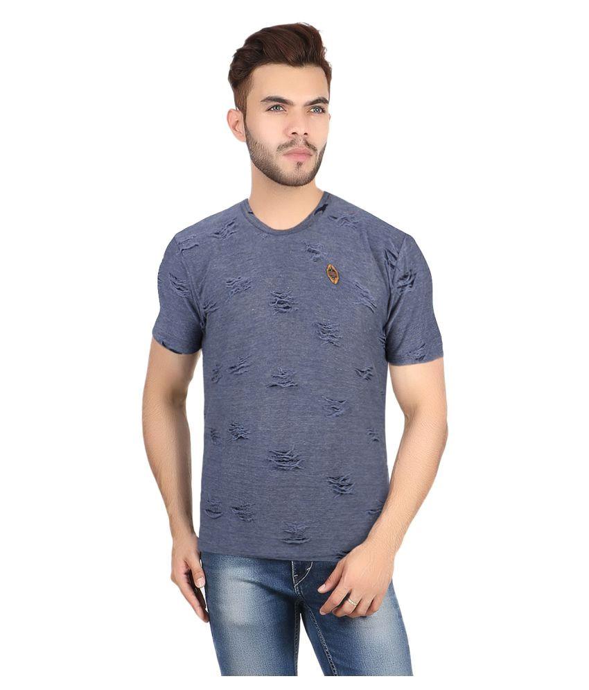 Flying Star Blue Round T-Shirt