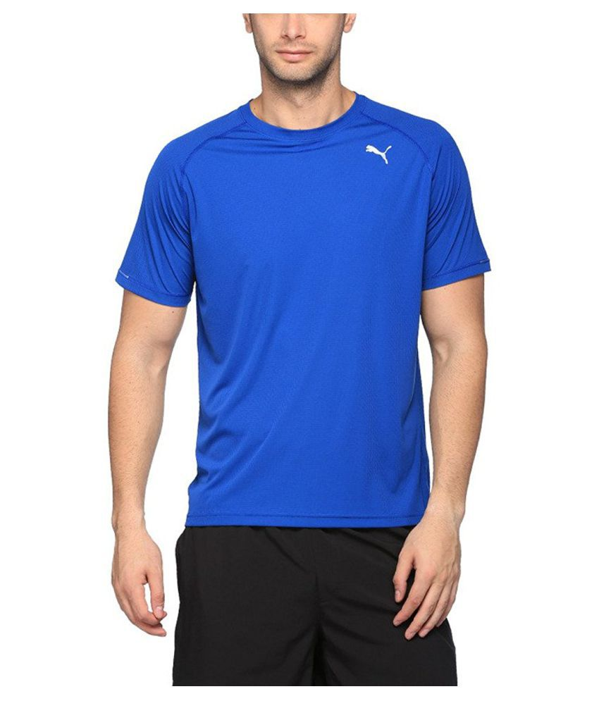 Puma Men's Round Neck Synthetic T-Shirt