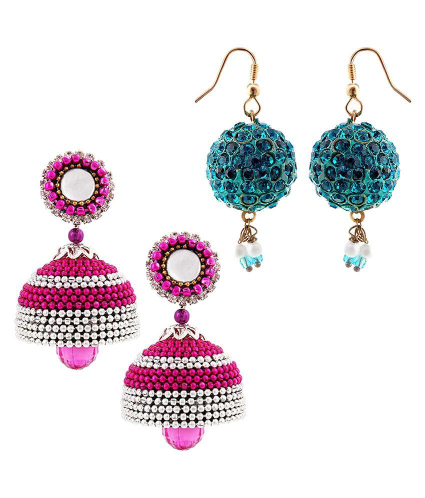 Shree Mangalam Mart  Two Handmade Multicolor Jhumki Set