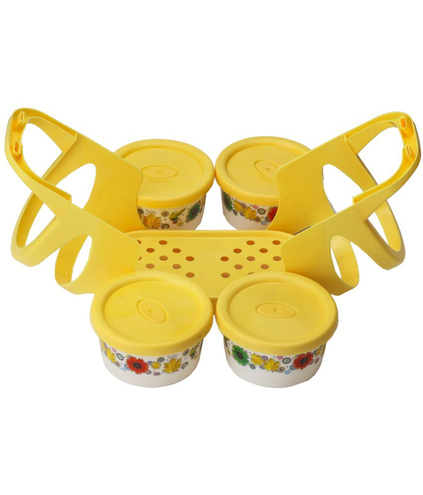 Lakshya Yellow Virgin Plastic Lunch Box